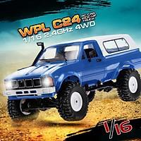 WPL C24 1/16 RC Car Crawler Off-Road With Headlight 4WD Pick-up Truck Gift for Kids RTR